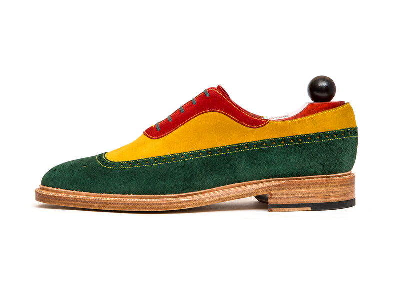 Edmonds - MTO - Green, Red, Yellow Suede - LPB Last - Storm Welt - Natural Double Leather Sole