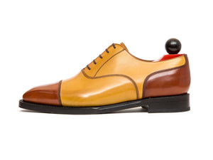 Magnolia - MTO - Cedar Calf / Shaded Tan Calf - MGF Last - Single Leather Sole