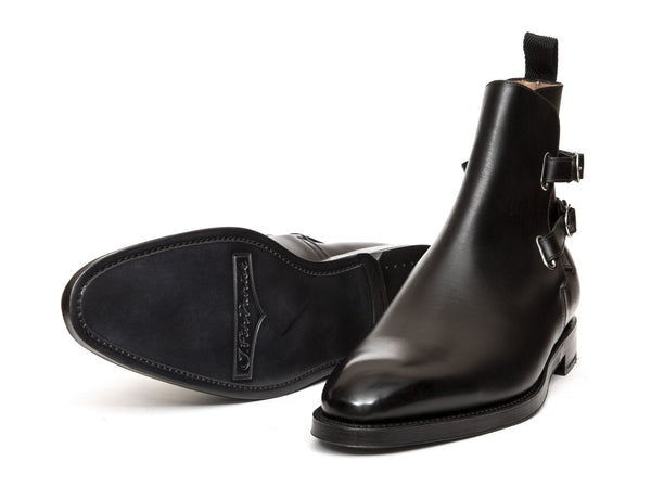 J.FitzPatrick Footwear - Genesee - Black Calf - Double Leather Sole - NGT Last