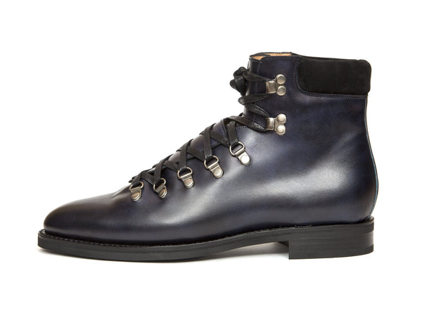 J.FitzPatrick Footwear - Snoqualmie - Navy Museum Calf - City Rubber Sole - TMG Last
