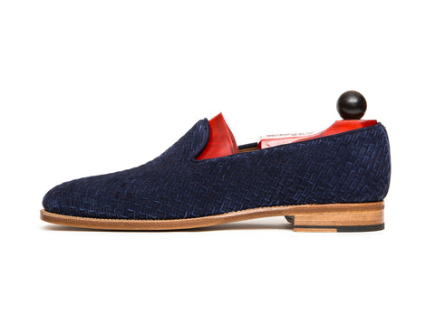 Laurelhurst II - MTO - Braided Navy Suede - TMG Last - Natural Single Leather Sole