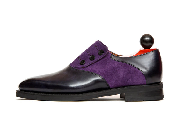 Aurora - MTO - Navy Museum Calf / Purple Suede - LPB Last - City Rubber Sole