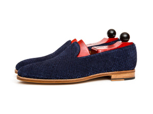 Laurelhurst ll - Braided Navy Suede/Natural Sole - DISCONTINUED