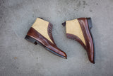 Tyler - MTO - Walnut Museum Calf / Desert Canvas - NGT Last - Single Leather Sole