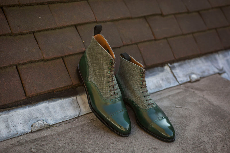 Seaview - MTO - Forest Calf / Military Canvas - NGT Last - Single Leather Sole