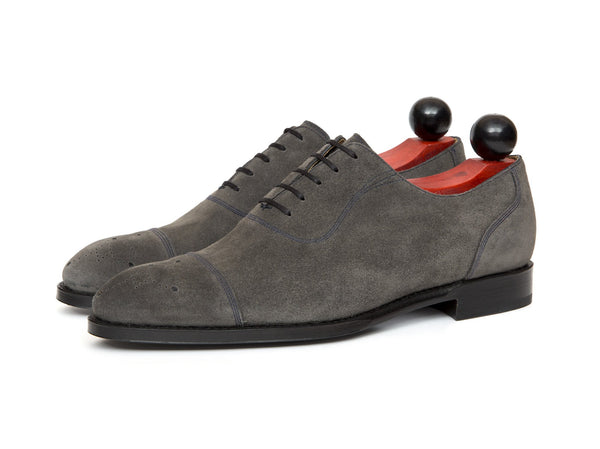 J.FitzPatrick Footwear - Auburn - Mid Grey Suede / Navy Stitching - NGT Last