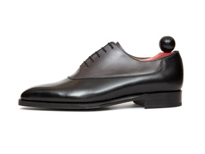 J.FitzPatrick Footwear - Cascade - Black Calf / Shaded Grey Calf - LPB Last