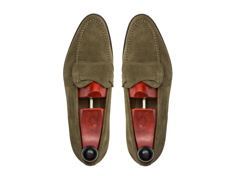 J.FitzPatrick Footwear - Hawthorne - Olive Suede - TMG Last - Double Leather Sole