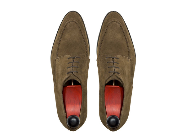 J.FitzPatrick Footwear - Lynwood - Taupe Suede - SEA Last - Double Leather Sole