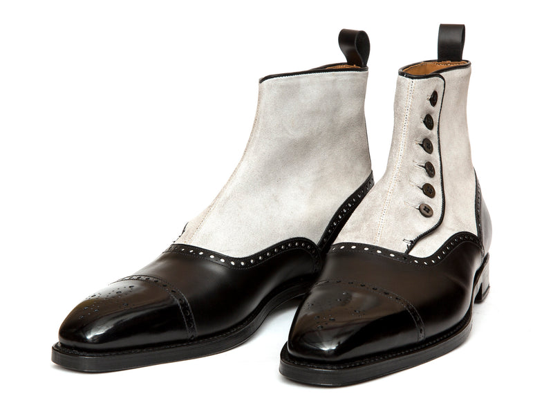 Broadview - MTO - Black Calf / Light Grey Suede - LPB Last - Double Leather Sole