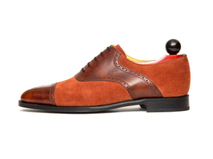 Burien - MTO - Gold Museum Calf / Rust Suede - TMG Last - Single Leather Sole