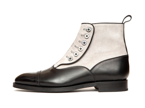 Carkeek - MTO - Black Calf / Pearl Suede - NGT Last - Double Leather Sole