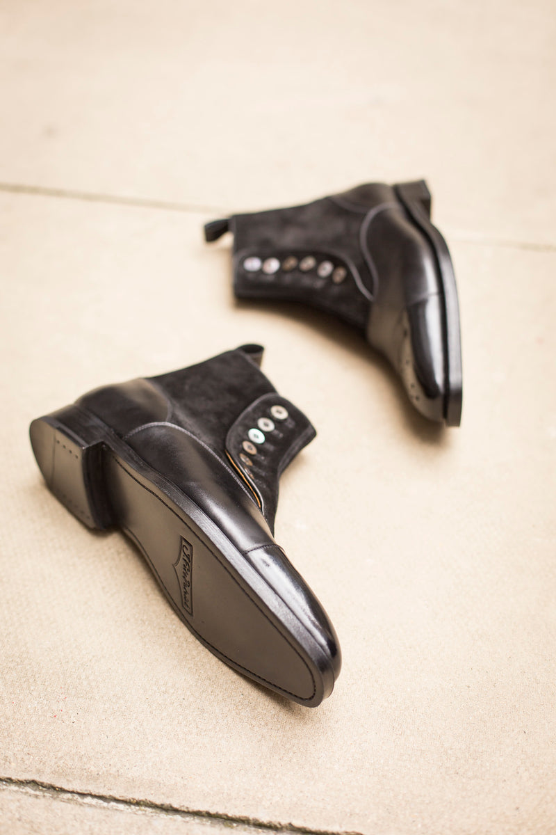 Bagley - MTO - Black Calf / Black Suede - LPB Last - Double Leather Sole