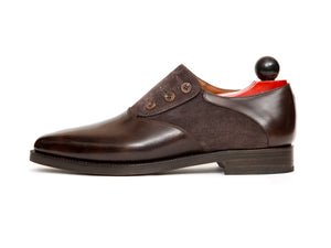 Aurora - MTO - Dark Brown Museum Calf / Dark Brown Suede