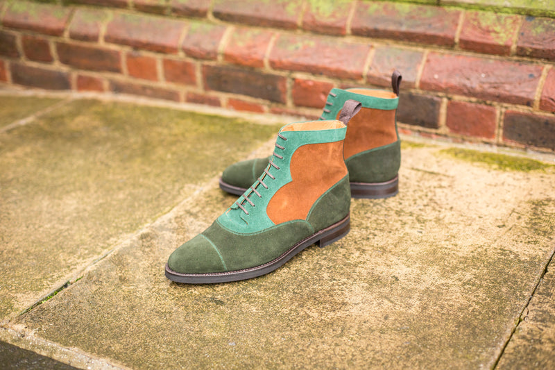 Lakebay - MTO - Forest Suede / Bottle Green Suede / Snuff Suede - TMG Last - Double City Rubber Sole