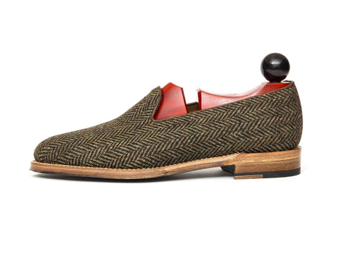 J.FitzPatrick Footwear - Laurelhurst II - Forest Tweed - TMG Last - Natural Sole