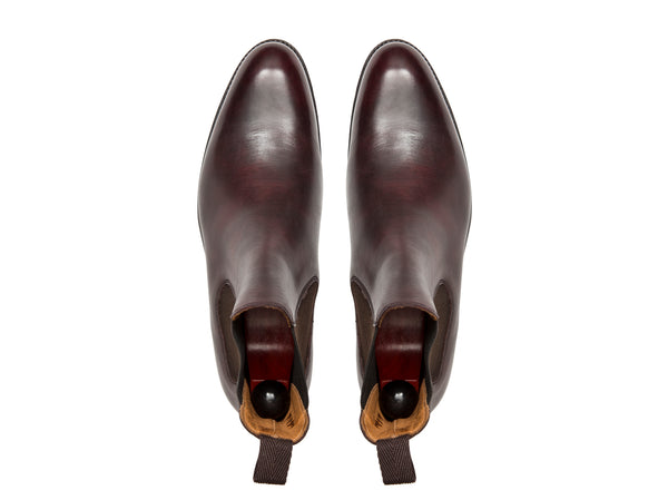 Alki - MTO - Plum Museum Calf - NGT Last - Single Leather Sole