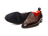 Piau - MTO - Plum Museum Calf - TMG Last - Single Leather Sole