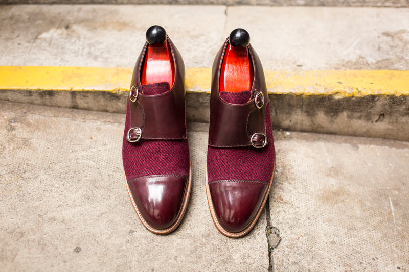 Kent - MTO - Burgundy Calf / Red Poulsbo - TMG Last - Natural Single Leather Sole
