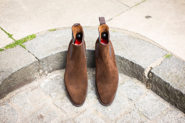 Alki - MTO - Dark Brown Suede - NGT Last - Double City Rubber Sole