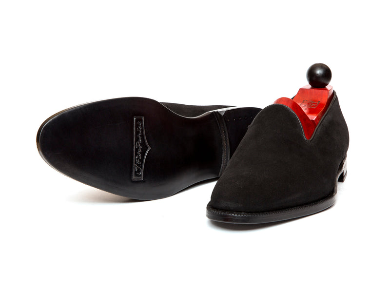 Laurelhurst II - MTO - Black Suede - TMG Last - Single Leather Sole