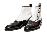 Puyallup - MTO - Black Calf / White Calf - NGT Last - Single Leather Sole