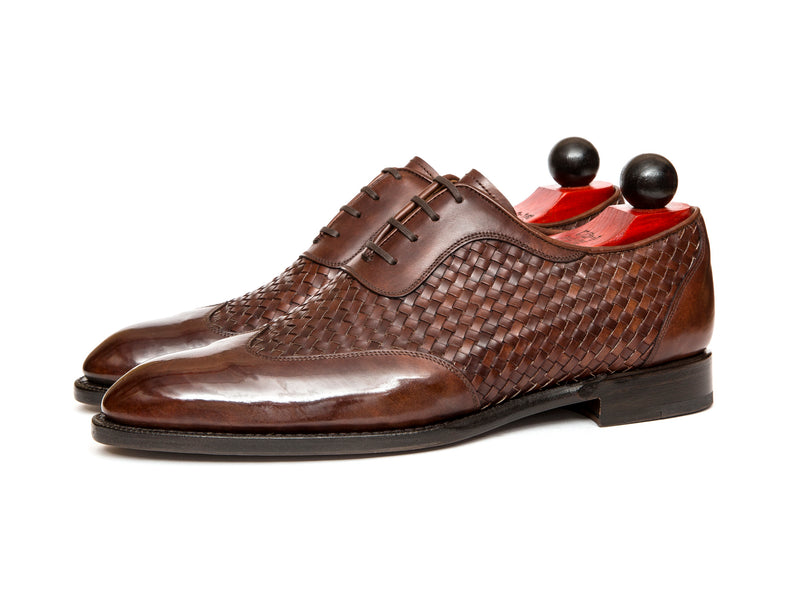 Rainier - MTO - Braided Walnut Museum Calf - SEA Last - Single Leather Sole