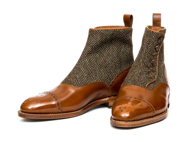 Blue Ridge - MTO - Maple Calf / Forest Tweed - NGT Last - Natural Single Leather Sole