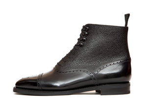 David - MTO - Black Calf / Black Country Calf - LPB Last - City Rubber Sole