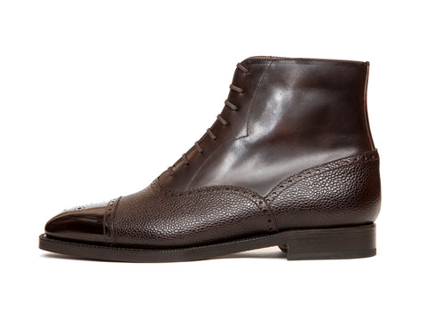 David - MTO - Dark Brown Museum Calf / Dark Brown Scotch Grain Calf - LPB Last - Double Leather Sole