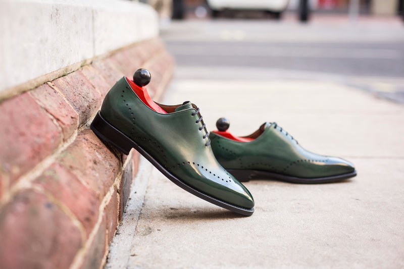 Tony - MTO - Dark Green Museum Calf - LPB Last - Single Leather Sole
