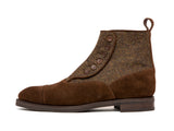 Carkeek - MTO - Dark Brown Suede / Forest Flannel - NGT Last - City Rubber Sole