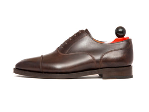 Magnolia - MTO - Dark Brown Museum Calf - MGF Last - Double Leather Sole