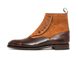 Westlake - MTO - Dark Brown Museum Calf / Tobacco Suede - NGT Last - Single Leather Sole