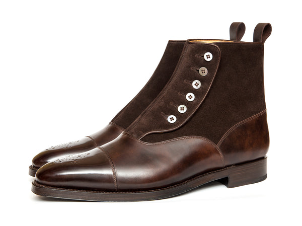 Bagley - MTO - Dark Brown Museum Calf / Dark Brown Suede - LPB Last - Double Leather Sole