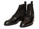 Westlake - MTO - Black Calf / Black Suede - NGT Last - Single Leather Sole