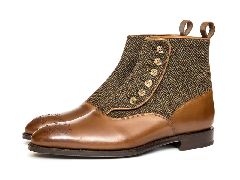 Westlake - MTO - Hazel Calf / Forest Tweed - NGT Last - Single Leather Sole