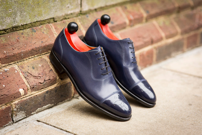 Auburn - MTO - Sea Blue Calf - TMG Last - Single Leather Sole