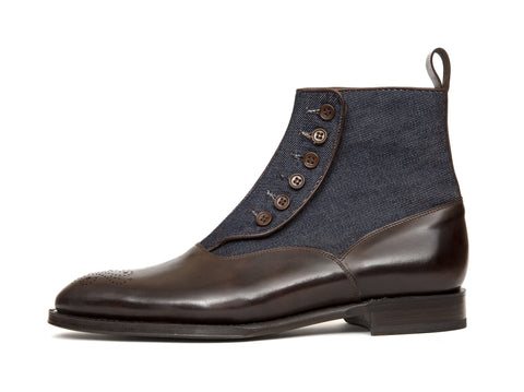 J.FitzPatrick Footwear - Westlake - Dark Brown Museum Calf / Denim NGT Last