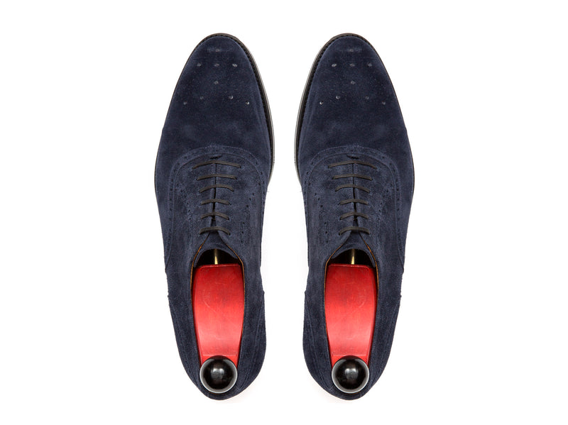 Wallingford - MTO - Navy Suede - TMG Last - Single Leather Sole