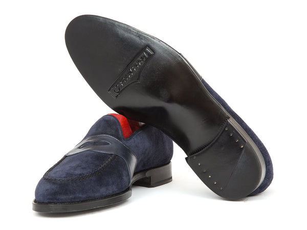 J.FitzPatrick Footwear - Madison - Navy Suede / Shaded Navy Calf Strap - TMG Last