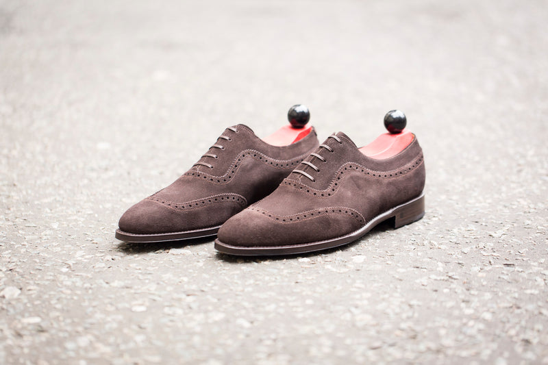 Medina - MTO - Bitter Chocolate Suede - LPB Last - Single Leather Sole