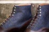 Wedgwood - MTO - Dark Brown Museum Calf / Denim - TMG Last - Single Leather Sole