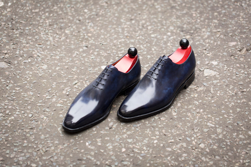 Skyway - MTO - Navy Museum Calf - LPB Last - Single Leather Sole
