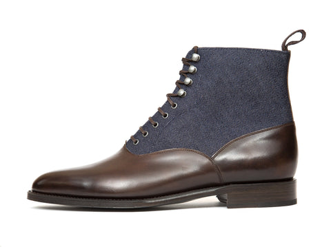 J.FitzPatrick Footwear - Wedgwood - Antique Brown Calf / Denim - TMG Last