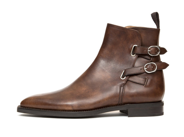 J.FitzPatrick Footwear - Genesee - Walnut Museum Calf - LPB Last - City Rubber Sole