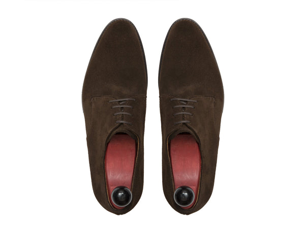 J.FitzPatrick Footwear - Renton - Dark Brown Suede - TMG Last - City Rubber Sole