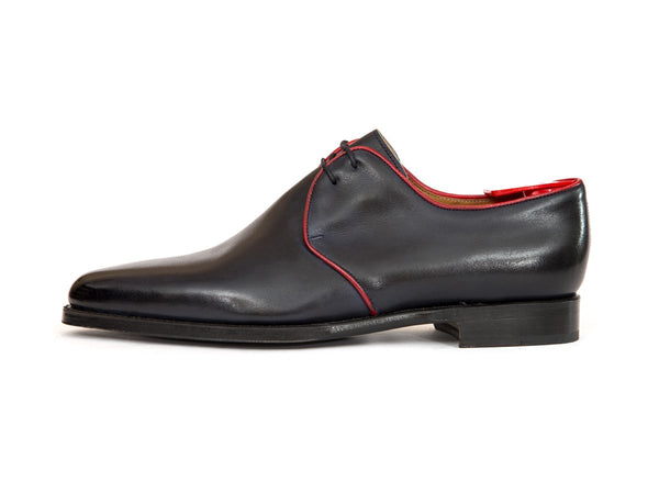 J.FitzPatrick Footwear - Broadway - Shaded Navy / Red Piping - JKF Last