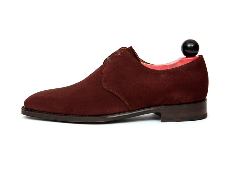 Fremont - MTO - Burgundy Suede - MGF Last - Single Leather Sole