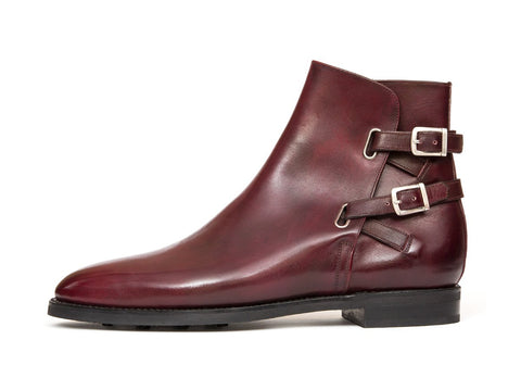 J.FitzPatrick Footwear - Genesee - Burgundy Calf - TMG Last - Country Rubber Sole